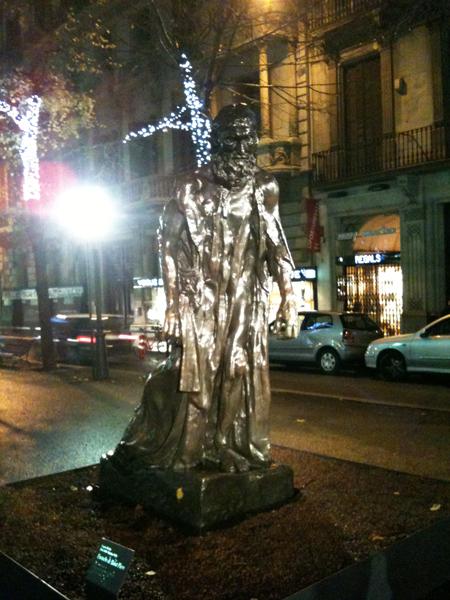 Exposition de Rodin rambla Catalunya