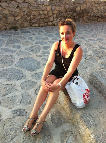 Look du jour Ibiza, robe et sac New Look, chaussures Stradivarius