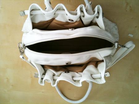 interieur sac blanc marché