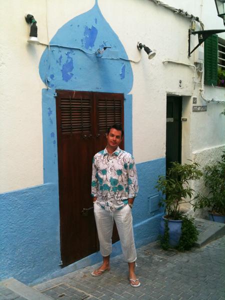 porte Ibiza blanche et bleue