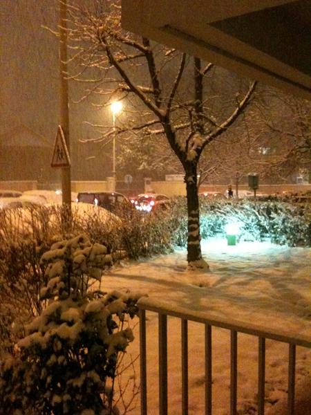 neige nuit lyon
