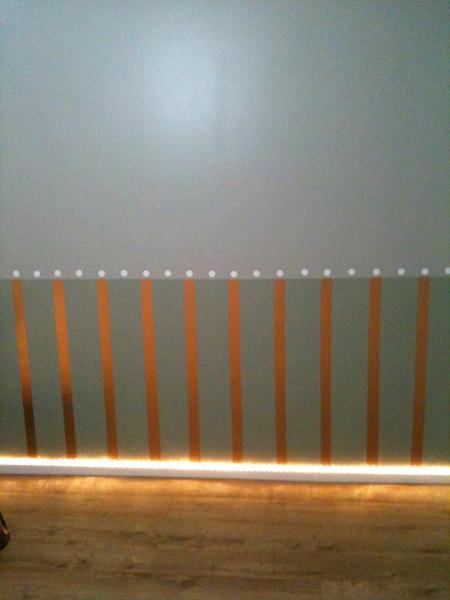 parquet stratifié illuminé