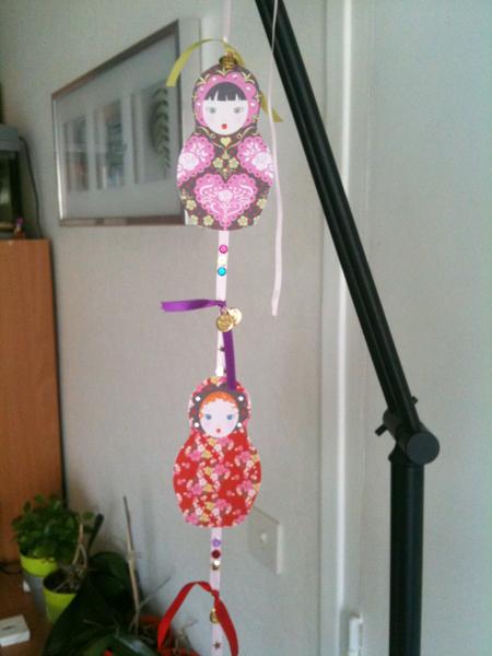 réaliser sa guirlande de matriochka poupées russes