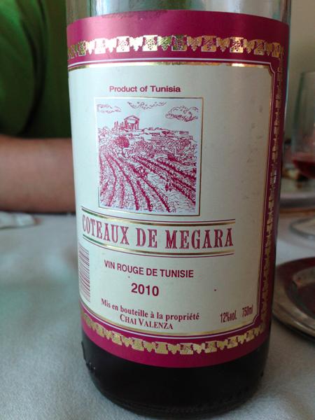 vin rouge Côteaux de Megara