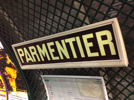 Station metro Parmentier Paris