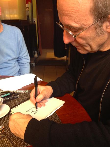 Philippe Geluck dessine