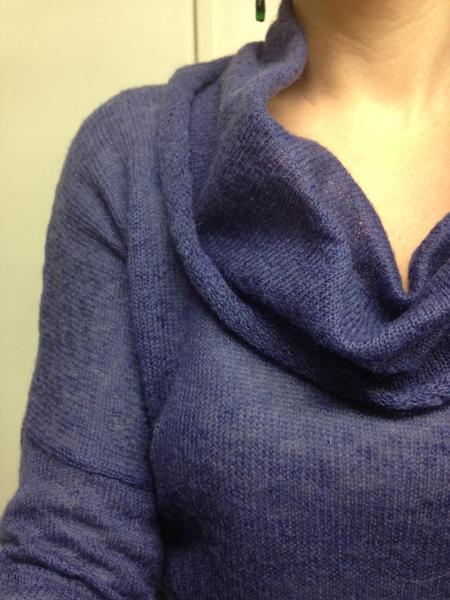 pull violet en laine promod